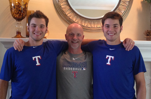 Twins Ryan and David Ledbetter were drafted by the Texas Rangers in June 2013.