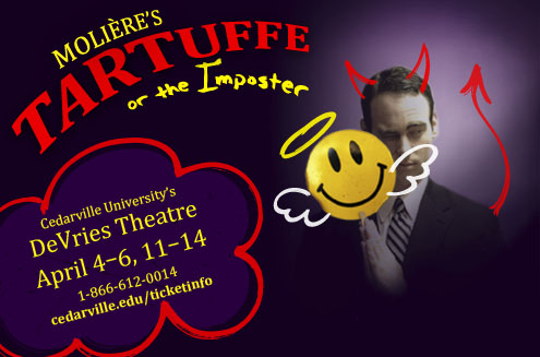 "Cedarville University's theatre program's ""Tartuffe, or the Imposter"" will open April 4, 2013. Photo credit: Joshua Redmond/Cedarville University"