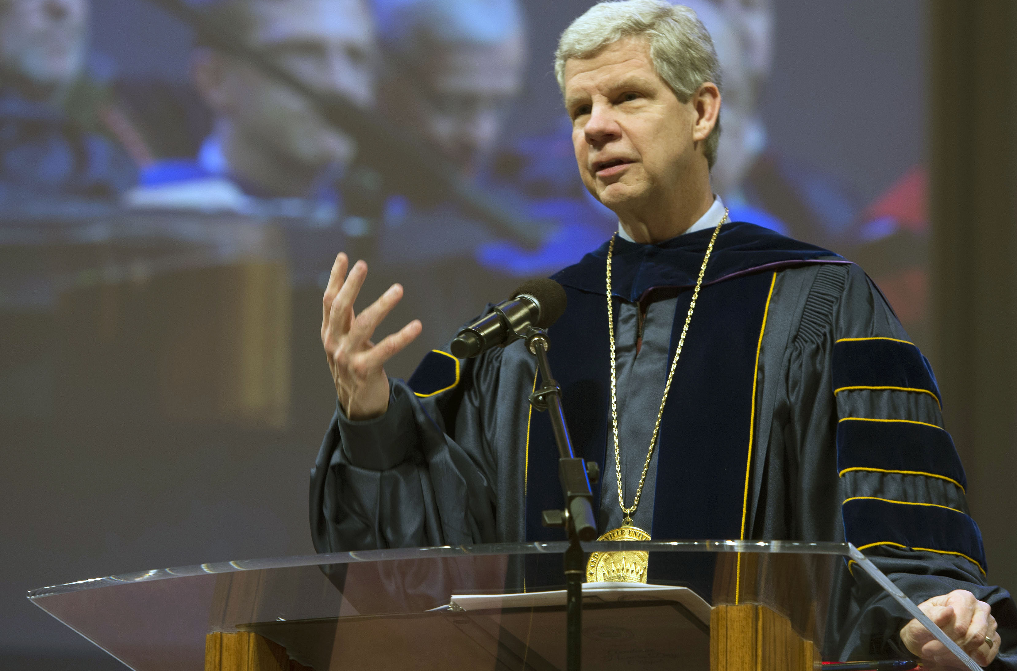 Dr. William E. Brown will speak to the class of 2013 at his last commencement as president. Photo credit: Scott L. Huck/Cedarville University
