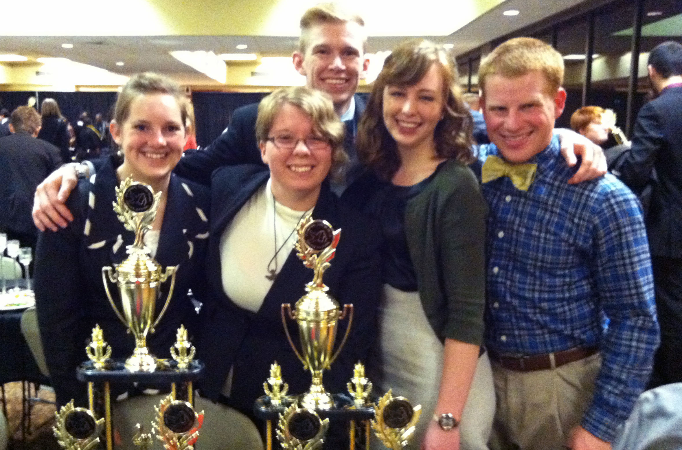 Cedarville's forensics team recently finished second in division two individual events at the 16th annual National Christian College Forensics Invitational. Photo courtesy of Derrick Green.