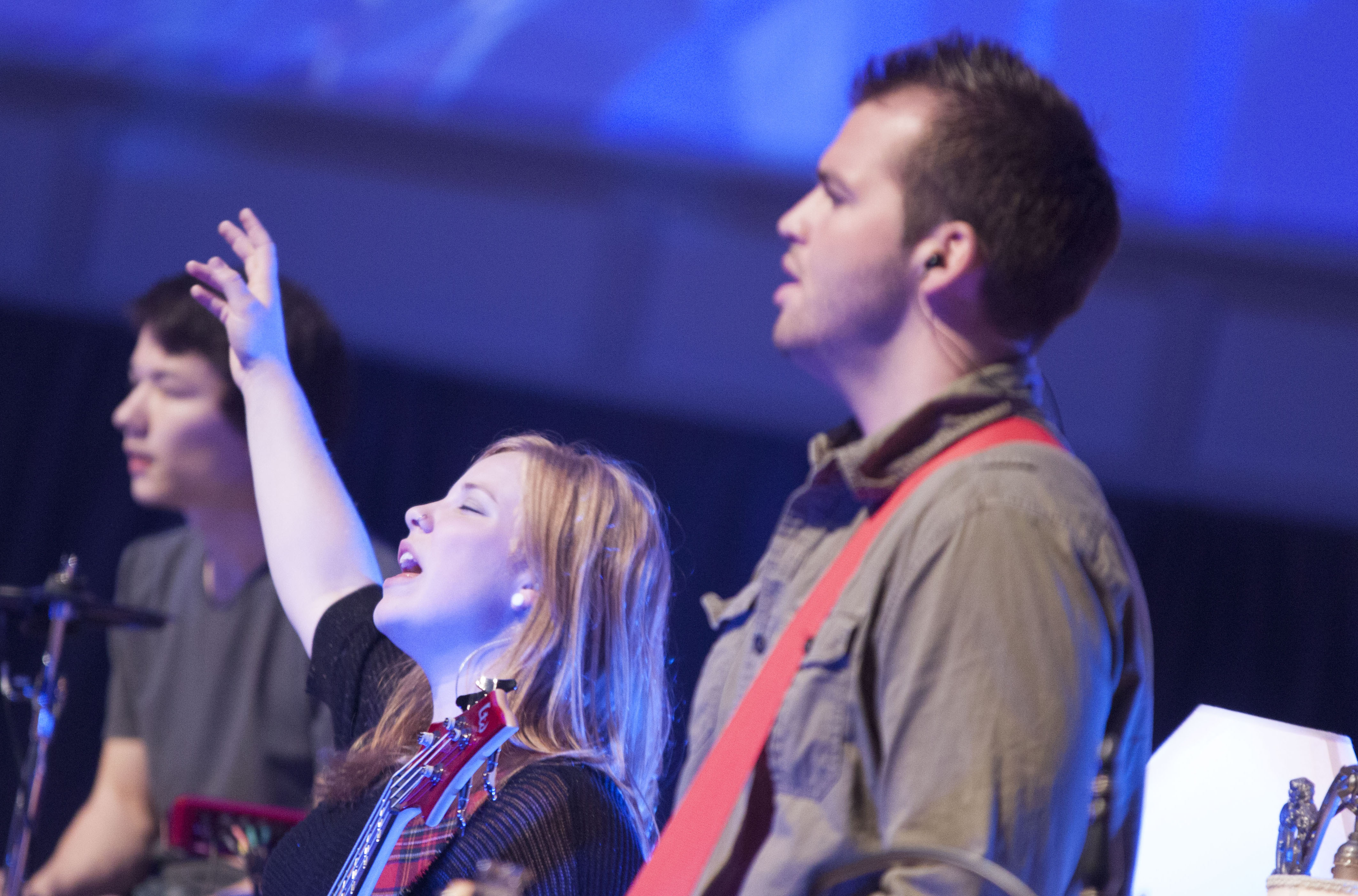 The HeartSong ministry uses music and worship to serve at camps and churches across the nation. Photo credit: Stephen Port/Cedarville University