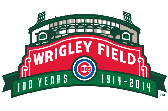 The new logo celebrating Wrigley Field's 100th anniversary was designed by 2007 Cedarville graduate Brandon Ort. Artwork courtesy of Brandon Ort.