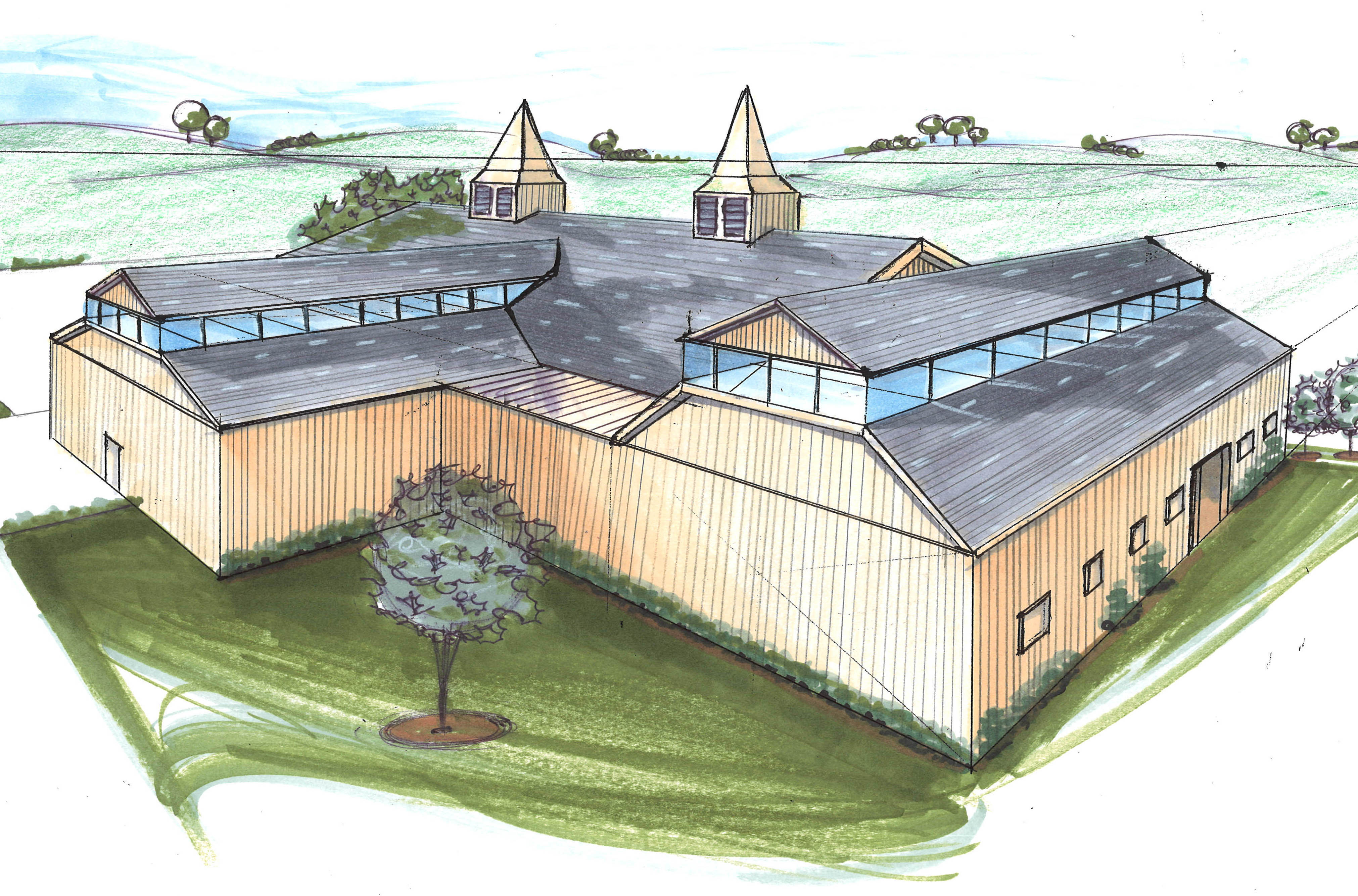 Mary Dennis designed the dream facility for Equine Alley, a center that uses equine therapy to help disabled children.