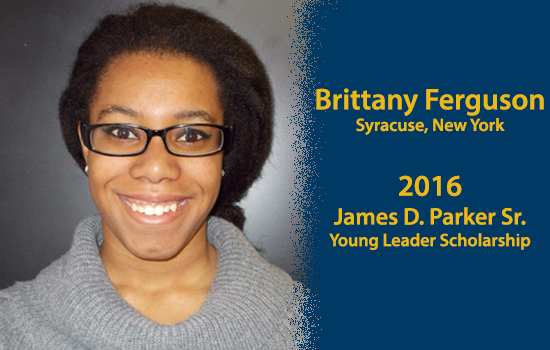 Brittany Ferguson is the winner of the James D. Parker Sr. Young Leader Scholarship