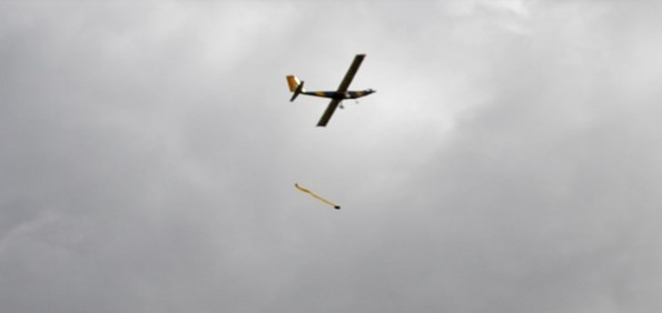 Cedarville's Aero Design plane delivering its payload
