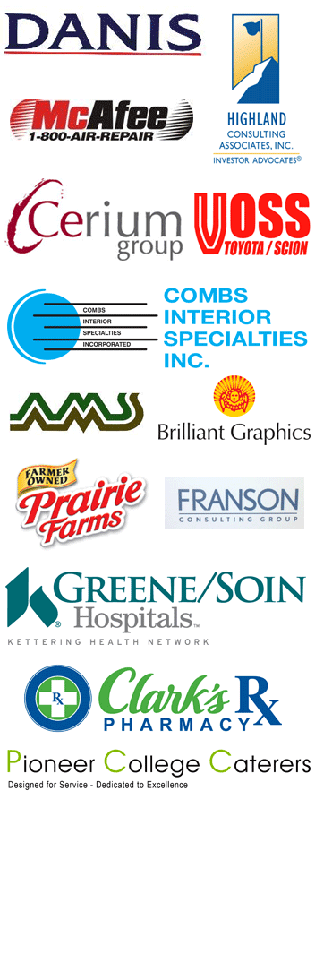 Cedarville Open Corporate Team Sponsors: Danis, McAfee, Highland Consulting Associates Inc., Cerium Group, Voss Toyota / Scion