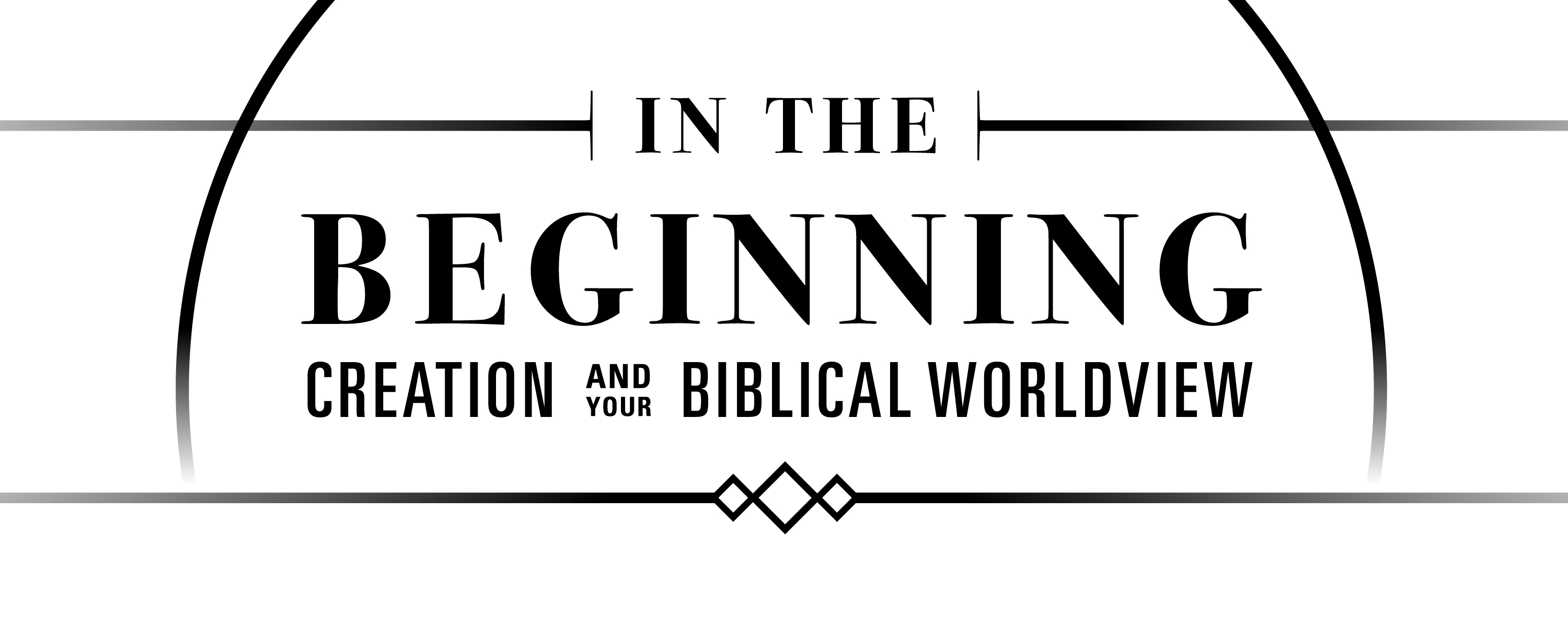 in the beginning creation and your biblical worldview event event logo