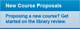 New Course Proposals