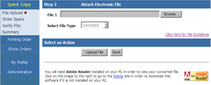 Attach Electronic File
