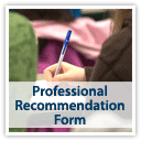 Pharmacy Professional Recommendation Form