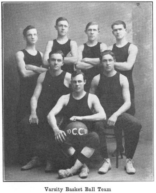 1911 varsity basketball at Cedarville College