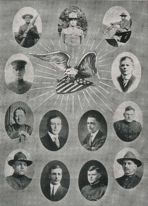 1918 student military at Cedarville College