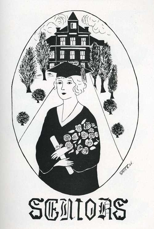 1922 senior illustration at Cedarville College