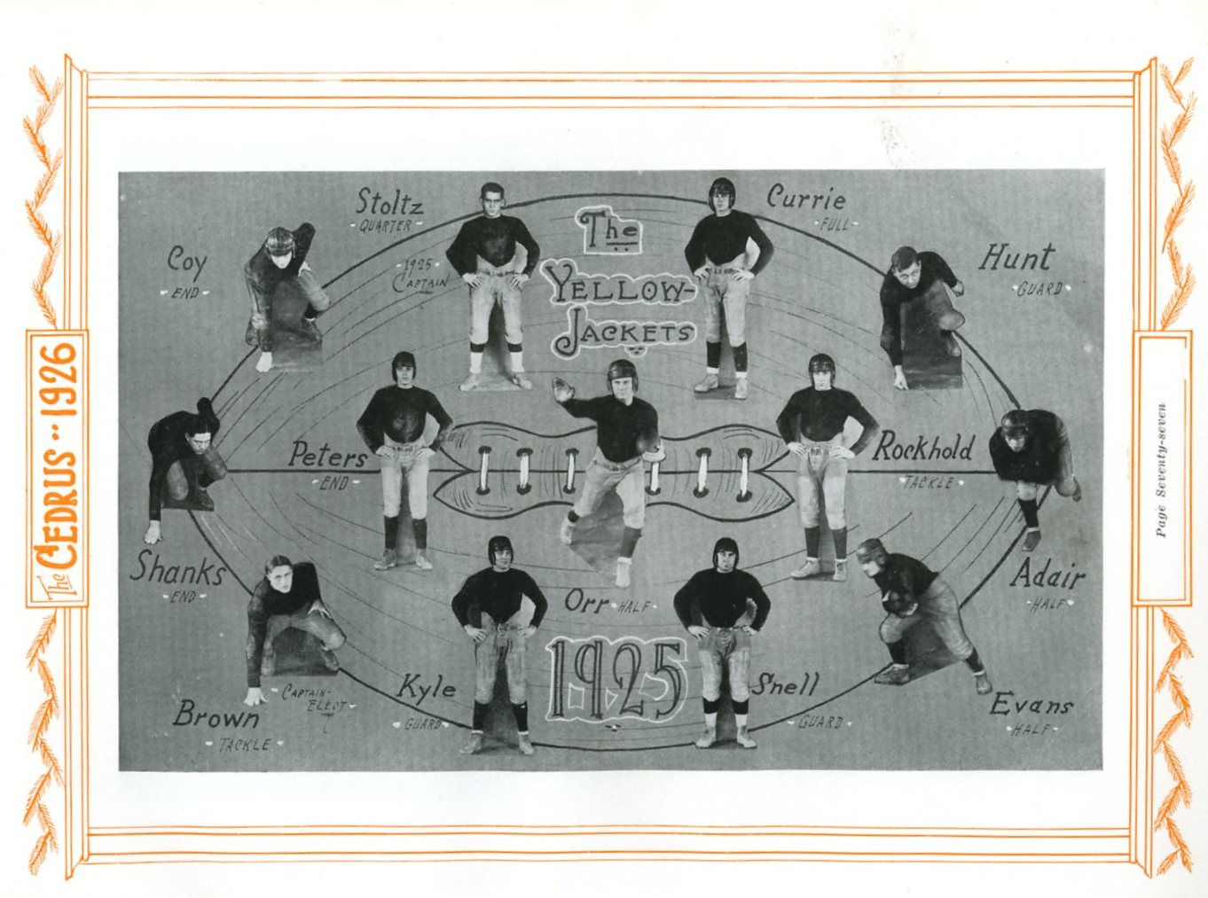 1926 football team at Cedarville College
