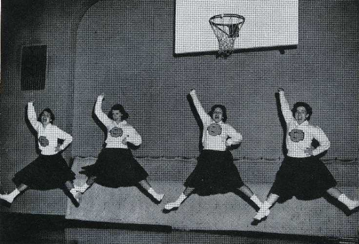 1959 Cedarville cheerleaders