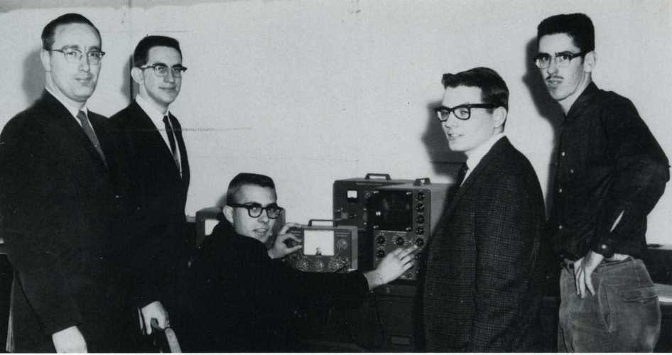 1961 physics class at Cedarville College