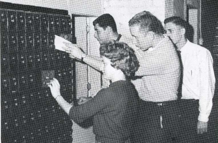 1962 mailroom at Cedarville College