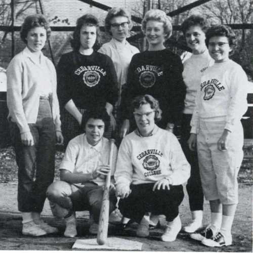 1962 womens softball at Cedarville College