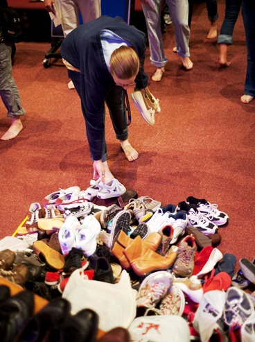On September 8, 2011, Cedarville students collected shoes to send to Chinchen to distribute to those who need shoes in Africa.