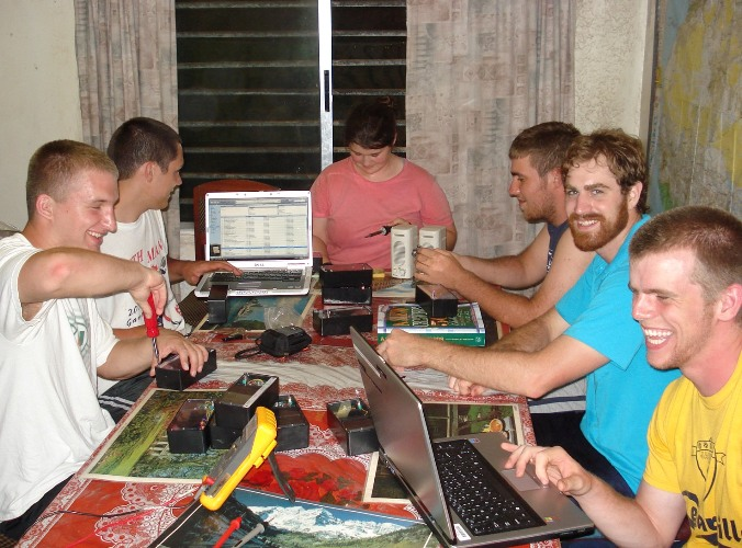 Cedarville Engineering majors in Liberia