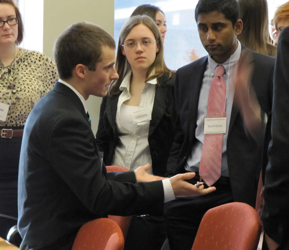 Students learn the skills of negotiation and cooperation through Model UN.
