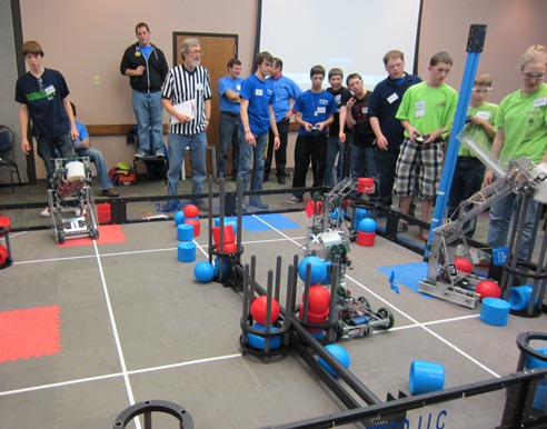 VEX Robotics Competition held at Cedarville University on February 4, 2012.