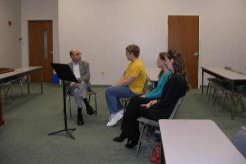 Composer Samuel Adler gives a masterclass at Cedarville