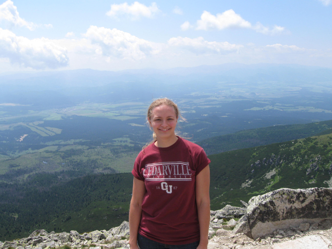 Diana Kurin '06 at the High Tatra Mountains, Slovakia