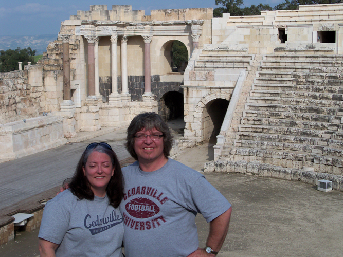 Mark '87 and Dianne (Davis) Nemitz '87 in Beit She'an, Israel