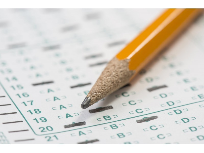 Image of a pencil on a standardized test paper